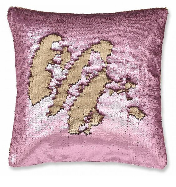 Catherine Lansfield Sequin Mermaid Cushion Cover Rose Gold 43 x 43 cm