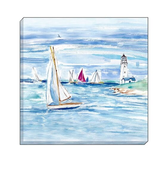 Sailing Boats with Blue Sky and Sea.