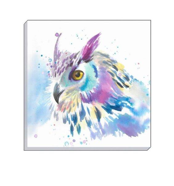 Watercolour Owl Canvas Art  40 x 40 cm