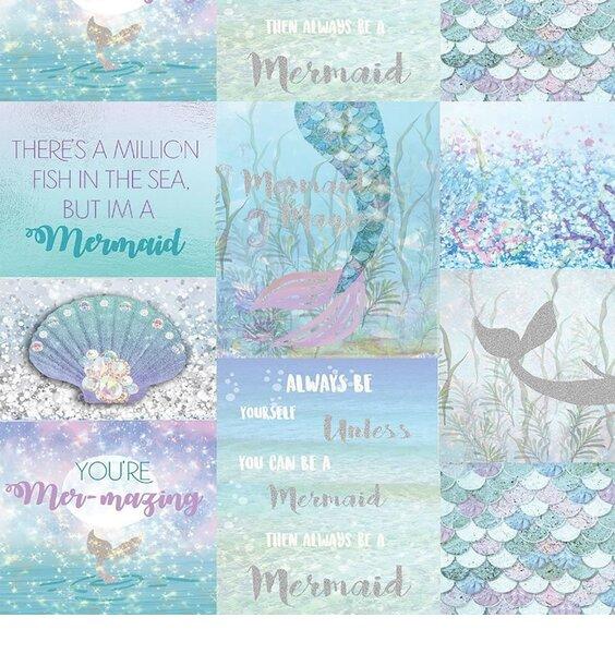 Magical Mermaid, Glitter Wallpaper
