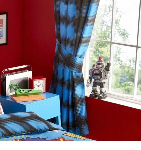 Kapow Blue Spots Curtains 54s