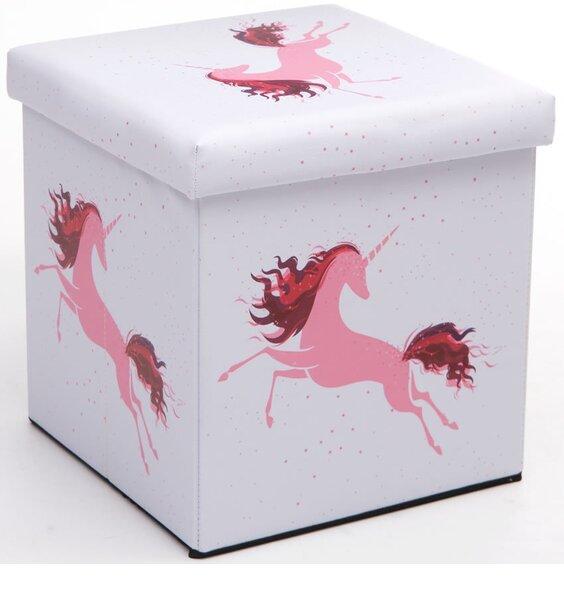 Pink Unicorn Folding Ottoman Box Available At Children S