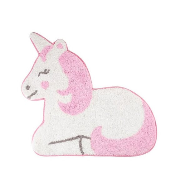 Pink Unicorn Rug 64 x 64 cm