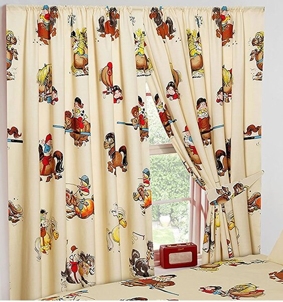 Thelwell Novelty Horse Curtains 72s Now At Children S Rooms
