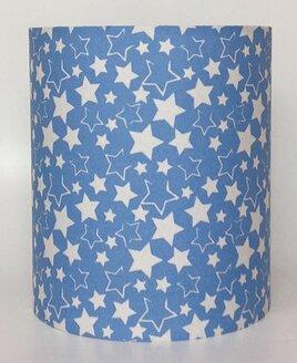 Blue and White Stars, Medium Light Shade