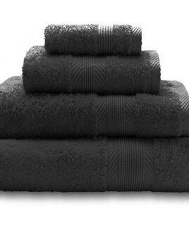 Catherine Lansfield Home 100% Cotton Bath Sheet 90 x 140cm - Black