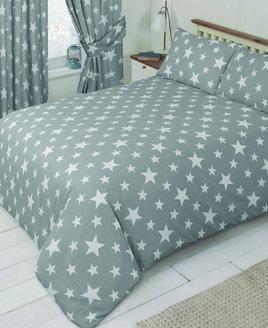 White Star, Grey Double Duvet