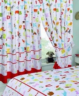 ABC, Alphabet Nursery Curtains 72s