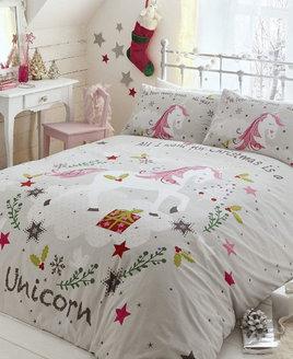 Wishing for Unicorns, Christmas King Size Bedding