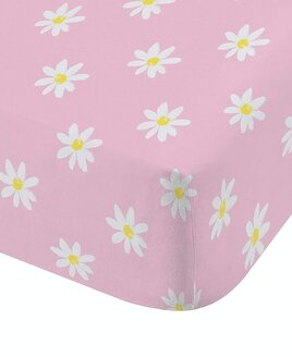 Catherine Lansfield Ditsy Daisy Single Fitted Sheet, Pink