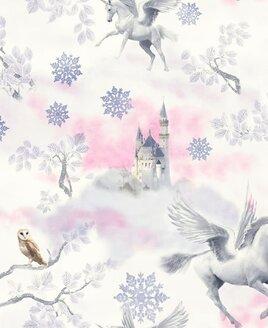 Arthouse Fairytale Unicorn, Kids Wallpaper - Lilac
