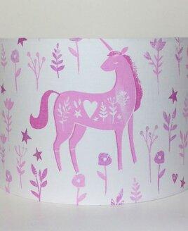 Folk Unicorn, Large Fabric Light Shade