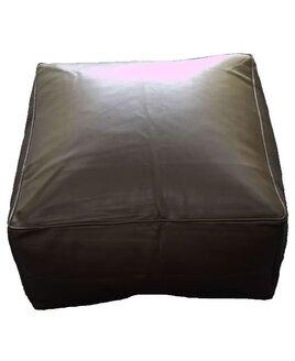 Black, Faux Leather Bean Slab / Cube