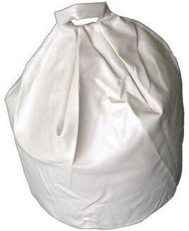 Cream, Faux Leather, Large Bean Bag