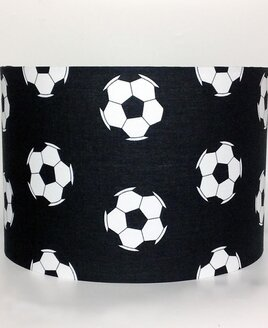 Black Football, Large Fabric Light Shade