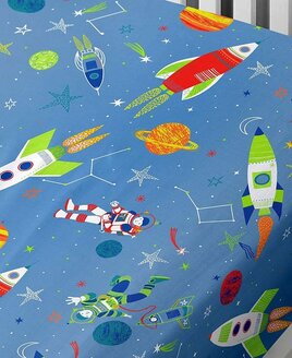 Supersonic, Space Toddler Fitted Sheet