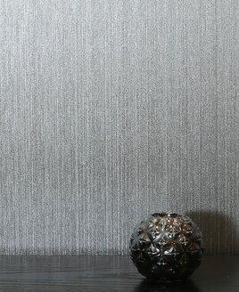 Gianni, Foil Wallpaper - Plain Silver