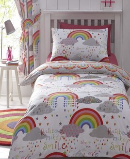 Clouds and Rainbows Double Duvet