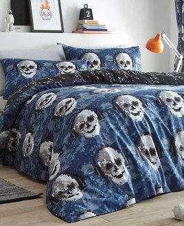 Pixel Skulls King Size Bedding