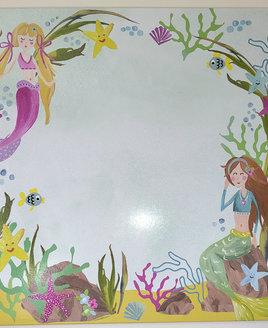 Mermaid World Dry Erase Printed Canvas,  40 x 40 cm