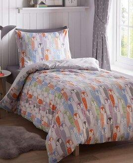 Owl Double Bedding - Pastels