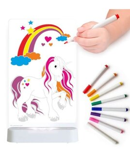 Unicorn, Colour In Night Light. Colouring Pens Included.