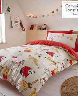 Catherine Lansfield Jungle Bells King Size Christmas Bedding