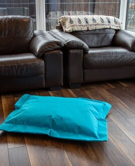 Blue, Water Resistant, Small Bean Bag Lounger 95 x 75 cms