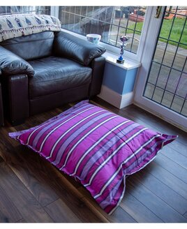 Purple Stripe, Extra Large Floor Bean Cushion