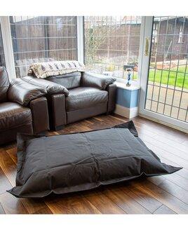 Black bean bag lounger