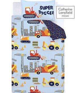 Catherine Lansfield Construction Easy Care Single Duvet Set
