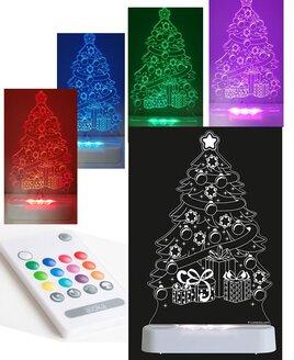 Christmas Tree Colour Changing Night Light