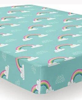 Rainbow Unicorn Single Fitted Sheet