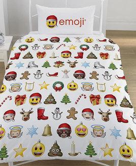 Christmas Emoji Single Duvet Cover