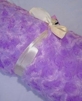 Lilac Curly Throw