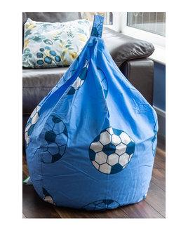 Blue and White Football Bean Bag