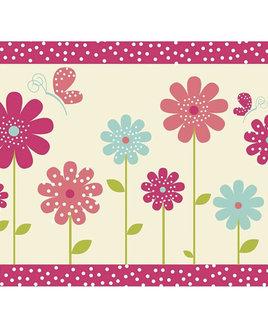 Pink Flower Bedroom Rug 60 x 90 cm