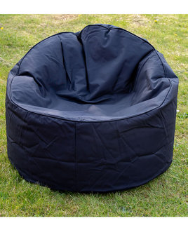 Large Adult Sized Outdoor Chill Chair Bean Bag - Black