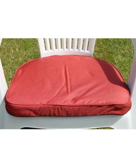 Outdoor Seating Pad Cushion - Red