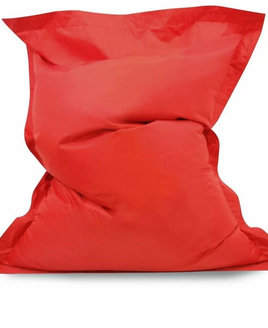 Red, Water Resistant Large Bean Bag Lounger - 140 x 100 cms