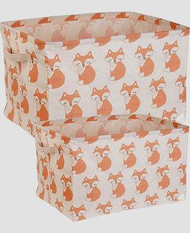 Woodland Fox Storage Boxes - Set of 2