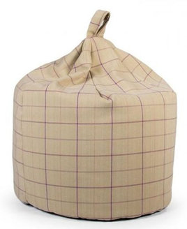 Large Brodie Thistle, Beige and Purple Patterned Bean Bag