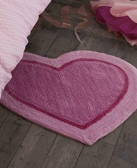 Catherine Lansfield, Pink Heart Shaped Rug