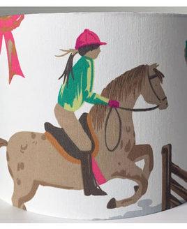 Horse Show Large Fabric Light Shade