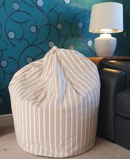 Beige Bean Bag