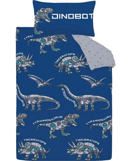 Catherine Lansfield Dinobot Single Duvet Set