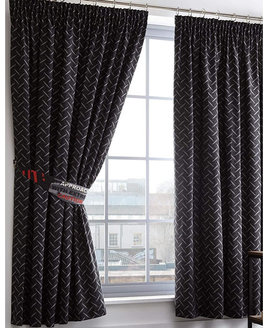 Toxic Glow in the Dark Black and Grey Curtains 54s