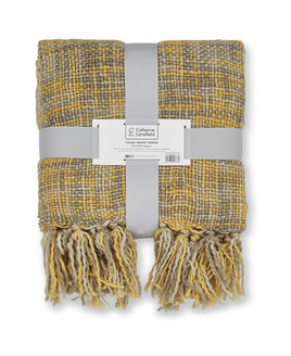 Grey and Yellow Throw / Blanket