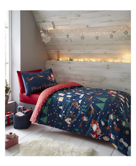 glow in the dark christmas bedding