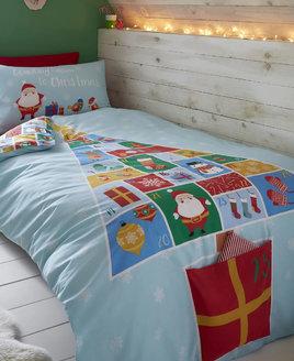 advent calendar christmas bedding